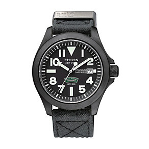 Exclusive Citizen Eco-Drive men's black ion plated watch - Product number 9621865