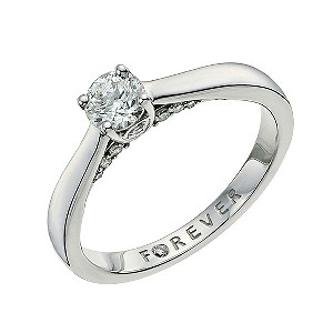 the forever 18ct gold 45pt ring h