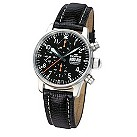 Fortis Flieger men's automatic chronograph black strap watch - Product number 9622276
