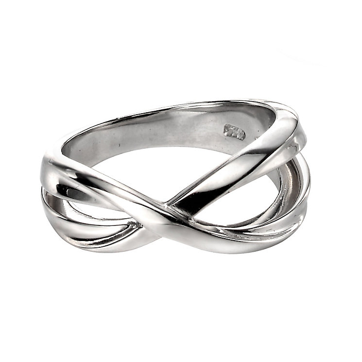 Fiorelli Silver Crossover Ring L - Product number 9622780