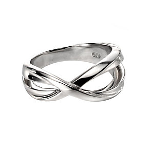 Fiorelli Silver Crossover Ring N - Product number 9622799