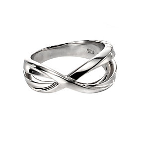 Fiorelli Silver Crossover Ring P - Product number 9622802