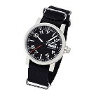 Fortis Spacematic men's day/date black dial strap watch - Product number 9622896