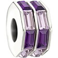 Chamilia - Sterling Silver Double Baguette Purple Bead - Product number 9626972