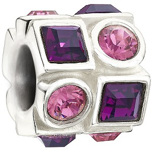 Chamilia - Sterling Silver Purple and Pink Crystal Bead - Product number 9626980