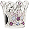 Chamilia - Sterling Silver Multi Coloured Crystal Crown Bead - Product number 9627111