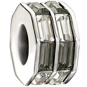 Chamilia - Sterling Silver Grey and White Crystal Bead - Product number 9627138