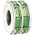 Chamilia - Sterling Silver Double Baguette Green Bead - Product number 9627146