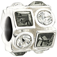 Chamilia - Sterling Silver Grey and White Crystal Bead - Product number 9627162