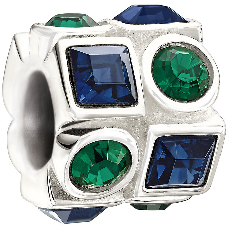 Chamilia - Sterling Silver Green and Blue Crystal Bead - Product number 9627170