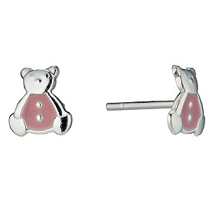 Sterling Silver Childrens Teddybear Stud