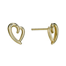 9ct Yellow Gold Heart Stud Earrings - Product number 9627553