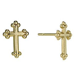 9ct Gold Cross Stud Earrings - Product number 9627731