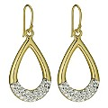 Eternal Crystal Silver & Gold Plated Drop Earrings - Product number 9627847