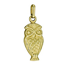 9ct Gold Owl Charm - Product number 9630007