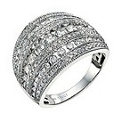 18ct white gold 1.5 carat diamond cocktail ring - Product number 9630864