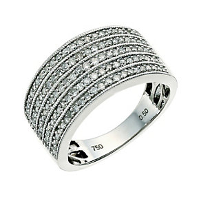 18ct white gold half carat diamond ring - Product number 9631240