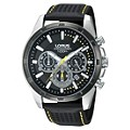 Lorus Men's Chronograph Black Leather Strap Watch - Product number 9635300