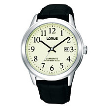 Lorus Lumibrite Men's Black Strap Watch - Product number 9635343