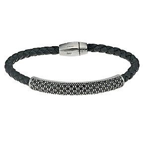 Pesavento Intreccio ladies' black spinel leather bracelet - Product number 9635556