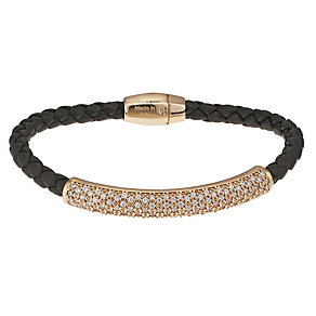 Pesavento sterling silver leather plaited bangle - Product number 9635564
