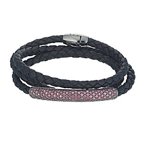 Pesavento Intreccio leather pink cubic zirconia bracelet - Product number 9635742