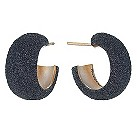 Pesavento Polvere Di Sogni black glitter hoop earrings - Product number 9635904