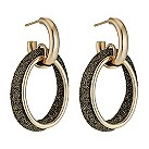 Pesavento Polvere Di Sogni bronze glitter hoop earrings - Product number 9635947