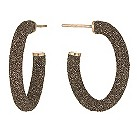 Pesavento Polvere Di Sogni bronze glitter hoop earrings - Product number 9635963