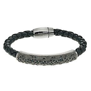 Pesavento sterling silver starsdust leather bracelet - Product number 9635971