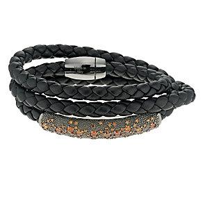 Pesavento sterling silver starsdust leather bracelet - Product number 9636064