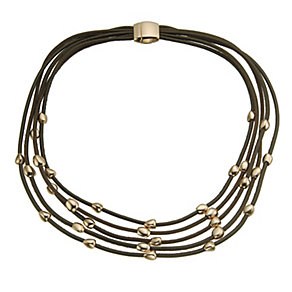 Pesavento five strand brown leather stones necklace - Product number 9636153