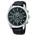 Lorus Men's Chronograph Black Leather Strap Watch - Product number 9639594