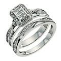 Perfect Fit Palladium 950 1/3 Carat Diamond Bridal Set - Product number 9640657