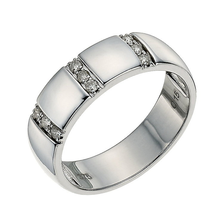 9ct white gold 5mm diamond ring - Product number 9640819