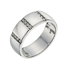 9ct white gold 7mm diamond wedding ring - Product number 9640940
