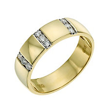 18ct yellow gold 5mm diamond ring - Product number 9641874