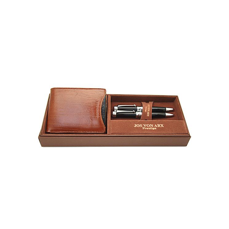 Jos Von Arx Men's Leather Wallet & 2 Pen Set - Product number 9642978