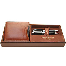 Jos Von Arx Men's Leather Wallet & 2 Pen Set - Product number 9642978