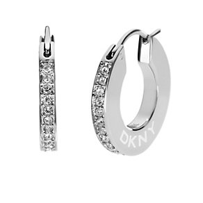 DKNY stone set small hoop earrings - Product number 9643680