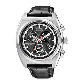 Citizen Eco Drive Calibre 8700 Men's Black Strap Watch - Product number 9643958