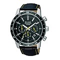 Pulsar Men's Black Leather Strap Watch - Product number 9644121