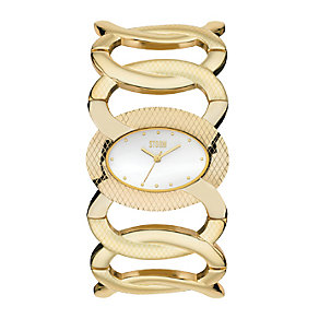 Storm Ladies' Caprina Gold Plated Bracelet Watch - Product number 9644970