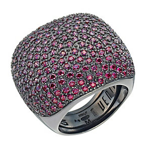 Pesavento grey sterling silver & red cubic zirconia ring - Product number 9645896