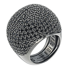 Pesavento sterling silver black cubic zirconia ring, K-M - Product number 9645942