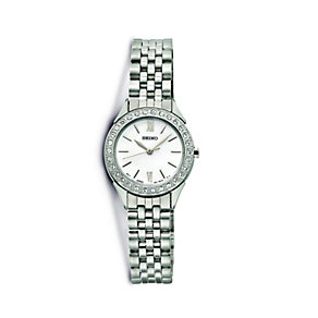 Seiko Ladies' Stainless Steel Stone Set Bracelet Watch - Product number 9647406
