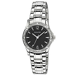 Accurist Ladies' Stainless Steel Stone Set Watch - Product number 9648496