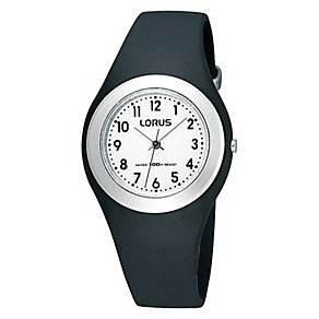 Kids' Black Strap Watch - Product number 9649050