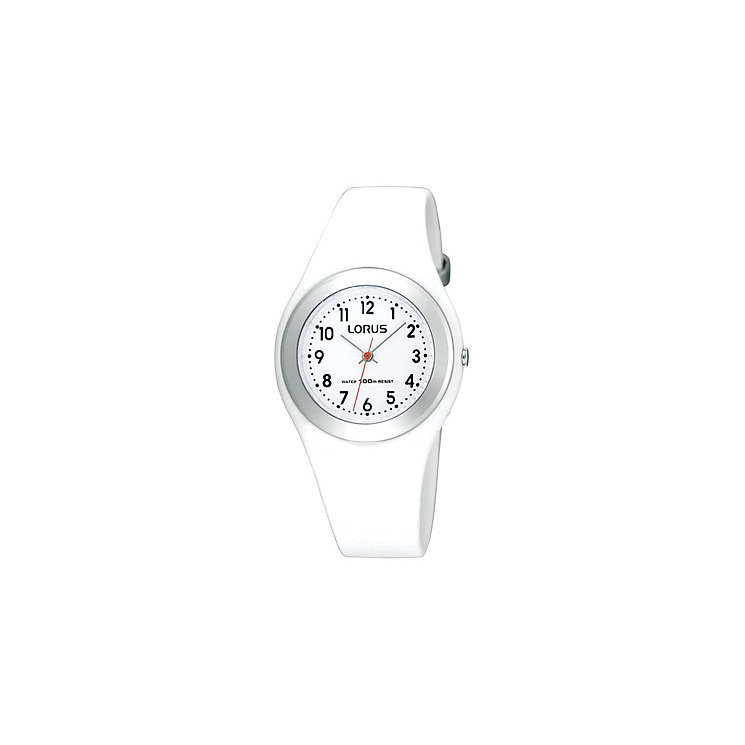 Kids' White Strap Watch - Product number 9649093