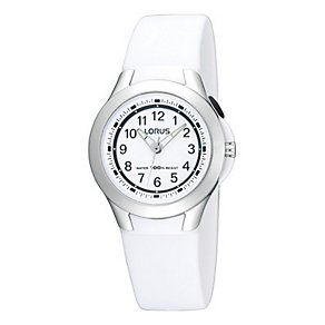 Kids' White Strap Watch - Product number 9649158